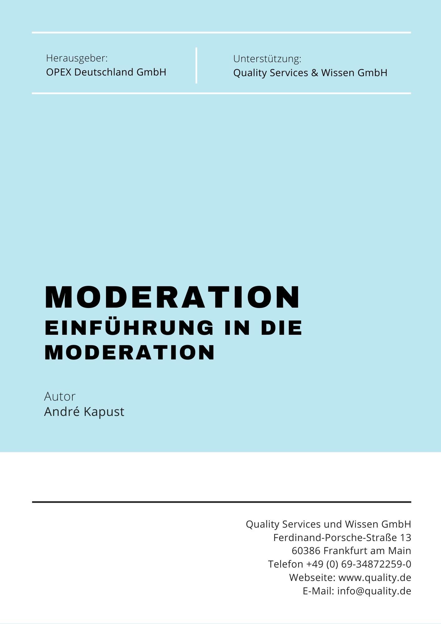 einfuehrung moderation